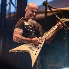 Highlights of the Anthrax set: everything onstage, Scott Ian's graying chin dangler included