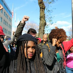 Black Lives Matter protesters gathered October 24 at Chicago Police Headquarters, 3501 S. Michigan, to demand more input with the IACP and an end to police brutality.