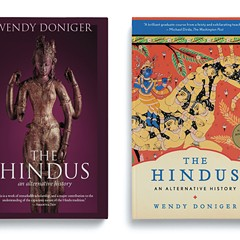 The original cover for Doniger's book, right, was racier than the new version, left.