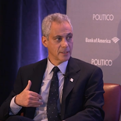 Rahm Emanuel during his interview with Politico