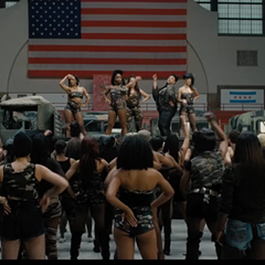A scene from Spike Lee's Chi-Raq. If black life in Chicago must be compared to a war zone, let's at least point to the right war.