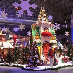 You could be walking in a winter wonderland inside Navy Pier.