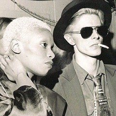 Ava Cherry and David Bowie in the mid-1970s
