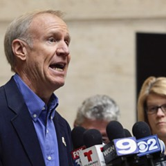 Governor Bruce Rauner announcing his support for a proposal by top Illinois Republicans for a state takeover of Chicago Public Schools.