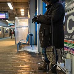 Safer sources of power on CTA property are the outlets along the platforms of el stations, the covers of which are often unfastened.