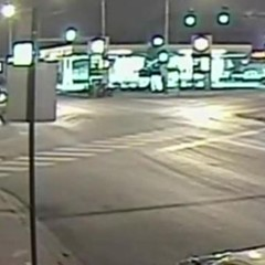 Still from speed camera footage released by the Chicago Police Department showing Christopher Sanchez being fatally struck.