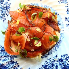 The exceptional pastrami trout tartine at Snaggletooth
