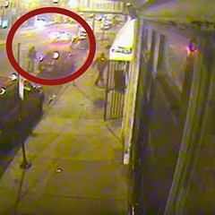 Off-duty Chicago police officer Francisco Perez is seen here on surveillance video shooting at a car in the early morning hours of November 5, 2011.