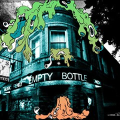 The Empty Bottle is possessed by evil blobs on the gig poster of the week