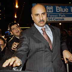 "Developer and political fund-raiser Antoin ""Tony"" Rezko leaves federal court in Chicago in October 2006."