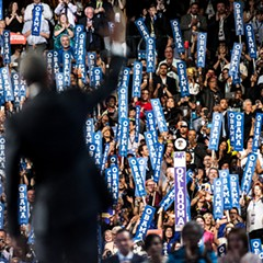 President Barack Obama at the Democratic National Convention Wednesday night