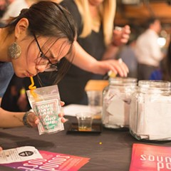A Capri-Sun like cocktail was one of the favorites at Cocktail Challenge.