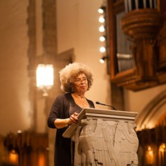 Angela Davis at the University of Chicago's Rockefeller Chapel