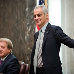 Mayor Rahm Emanuel at the Chicago City Council meeting on December 14