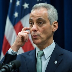 Mayor Rahm Emanuel during a press conference in mid-December