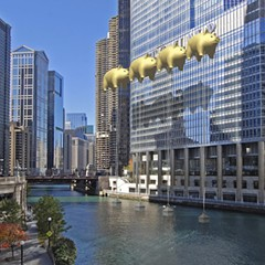 After his proposal to block Trump Tower with pig balloons, this architect received 'brutally abusive' calls