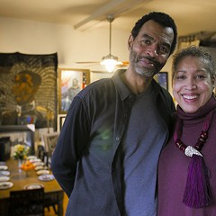 The Kenwood studio of Candace Hunter and Arthur Wright is covered floor to ceiling with the couple's artwork.