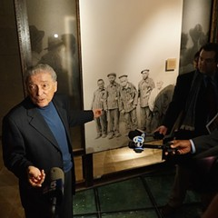 Holocaust survivor Aaron Elster recounted during Thursday's event how he came to the U.S. as a refugee after World War II.