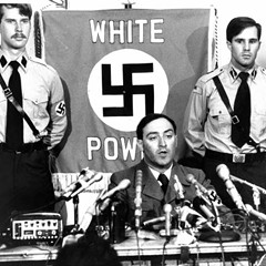 On June 25, 1978, neo-Nazi Frank Collin, leader of the National Socialist Party of America, announces that his group won't be marching in Skokie after all.