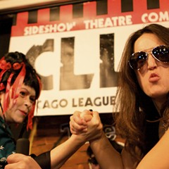 Wrestlers like Geisha Jane and Armgelina Jolie go arm-to-arm at CLLAW XXVI.