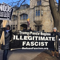 University of Chicago students protested Wednesday the invitation of former Trump adviser Corey Lewandowski to speak the Institute of Politics.