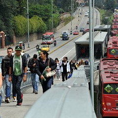 Bogotá's TransMilenio served as a model for Chicago in its efforts to build a bus rapid transit system.