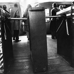 CTA turnstiles photographed in 1972