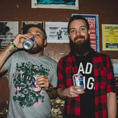 Brent Cayson and Justin Watt run the Burlington's monthly emo night.