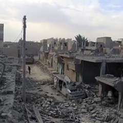A video posted online April 18 by the media arm of the Islamic State group purports to shows destroyed houses following a U.S.-led coalition strike in the eastern Syrian town of Boukamal.