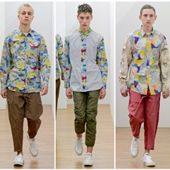 """Fall 2017 Comme de Garçons """"Shirt"""" collection, featuring prints made with images by painter and School of the Art Institute professor Candida Alvarez"""