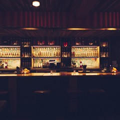 The mezcal bar at Quiote.