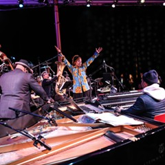 A New Fables performance from January, with Georgia Anne Muldrow (center) and Jason Moran (right)