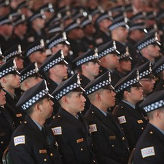 Chicago police officers at a graduation and promotion ceremony in June 2017
