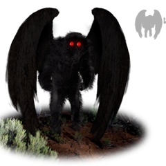 An artist's rendering of Mothman