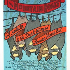 Hanging around with the Mountain Goats on the gig poster of the week