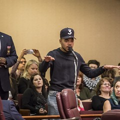 Chance the Rapper scolded aldermen over their spending priorities at the November 8 City Council hearing.