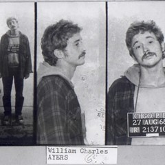 Bill Ayers's mugshot after one of his arrests at the Democratic National Convention in August, 1968