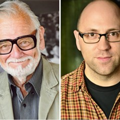 George A. Romero (l) and Daniel Kraus