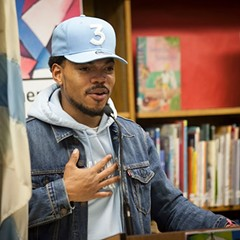 Chance the Rapper speaks with journalist Adrienne Samuels Gibbs at MCA on 3/5.