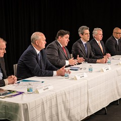 The Democratic gubernatorial candidates plead their case to the Sun-Times editorial board.