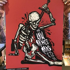 A skeleton decides it's not dead enough on the gig poster of the week