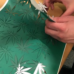 How we got all those pot leaves for our #420Day issue