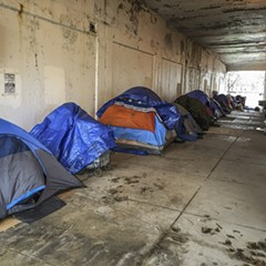 Dozens of people who lived under the Lake Shore Drive viaducts in Uptown have been displaced since construction began in September 2017.