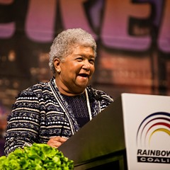 Dorothy Leavell at the Rainbow Coalition's Women's Leadership Luncheon on Friday