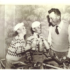 Jacques, Pierre, and Victor de Visé during their 1935 cross-country bike trip