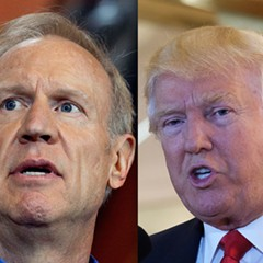 Governor Bruce Rauner, Donald Trump