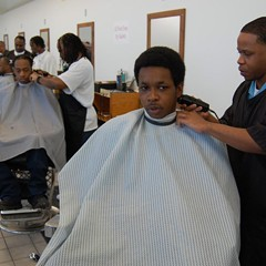 The barbershop run by inmates at Stateville Correctional Center is one of the few vocational opportunities in IDOC.