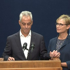 Mayor Rahm Emanuel, accompanied by his wife, Amy Rule, announced Tuesday morning that he won't be running for a third term as mayor.
