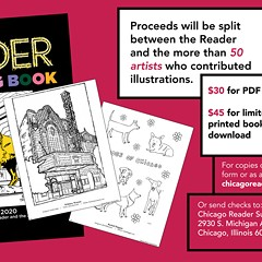 Reader Coloring Book available to benefit paper, artists