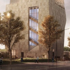 Rendering of the proposed Obama Presidential Center museum building
